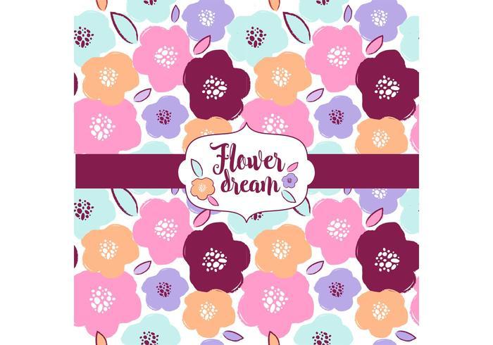 Blumen-Traummuster-Entwurf