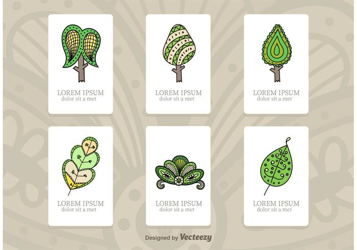 Tree Illustration Tarjetas