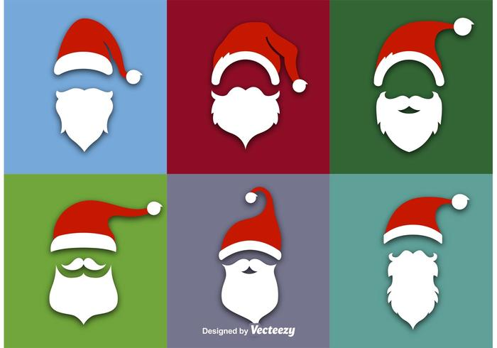 Santa Claus Flat Vector Icons