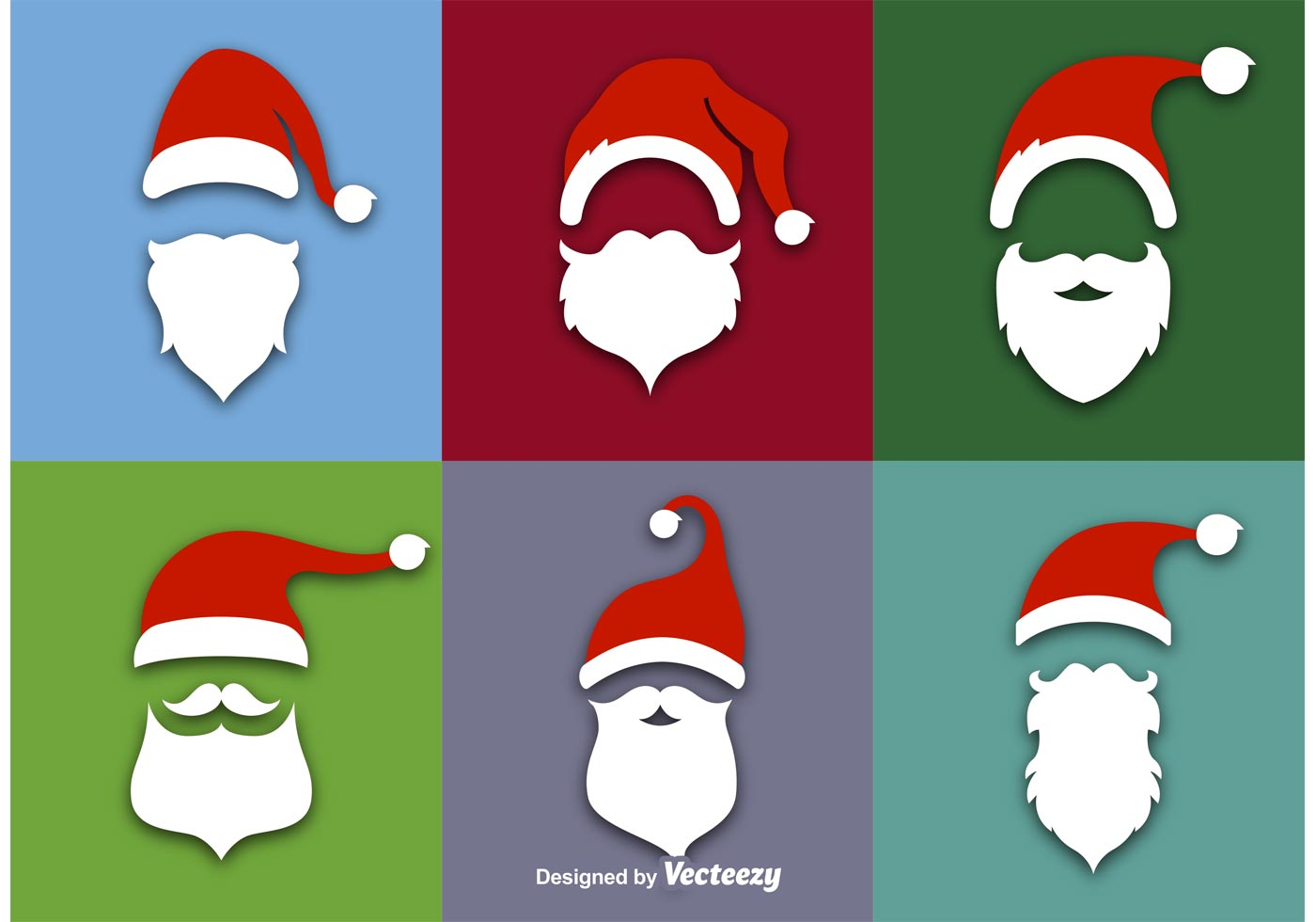 Santa claus flat vector icons download free vector art stock graphics images - Papa noel vector ...