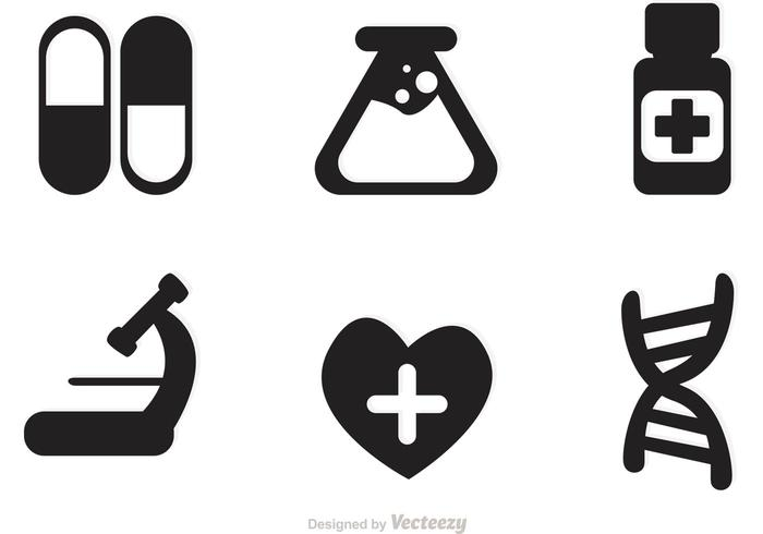 Medical Black Icons Vector