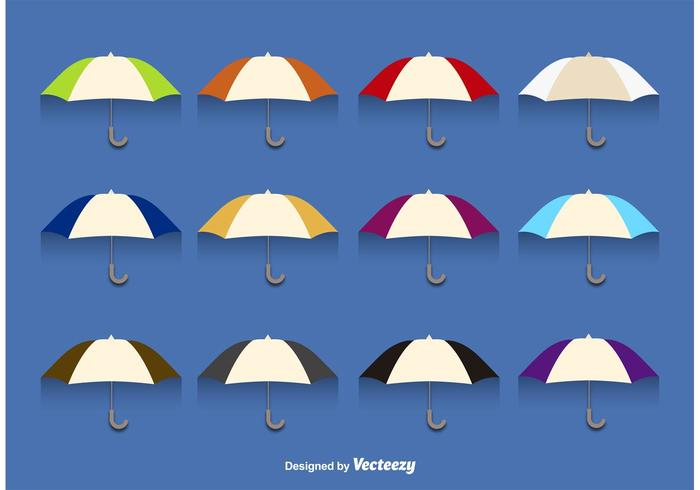 Cut Out Vector Umbrellas
