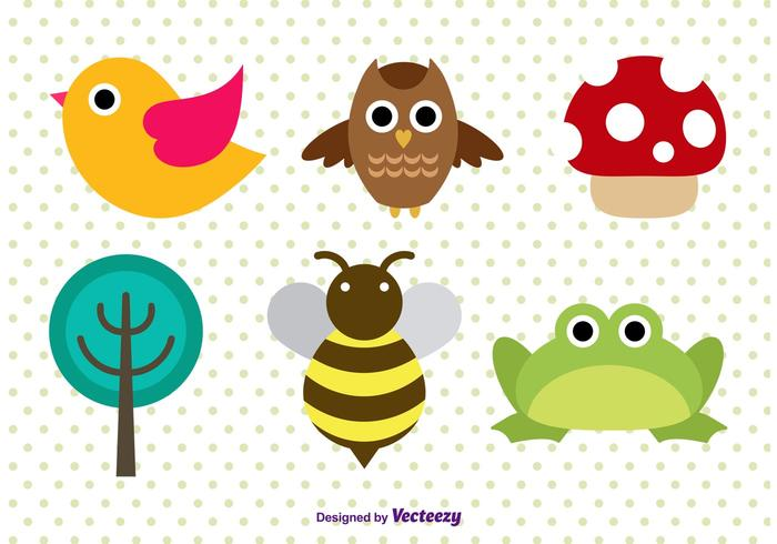Cute Forest Animal Character Vectors