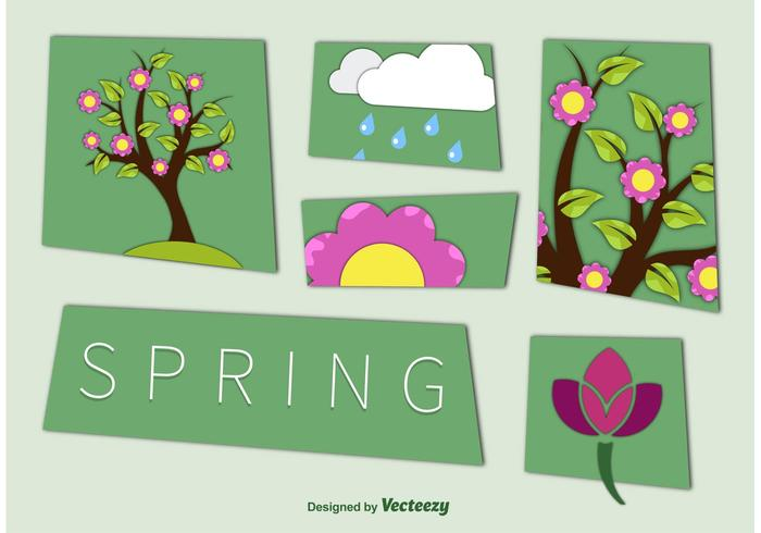 Spring Season Cut Out Graphics