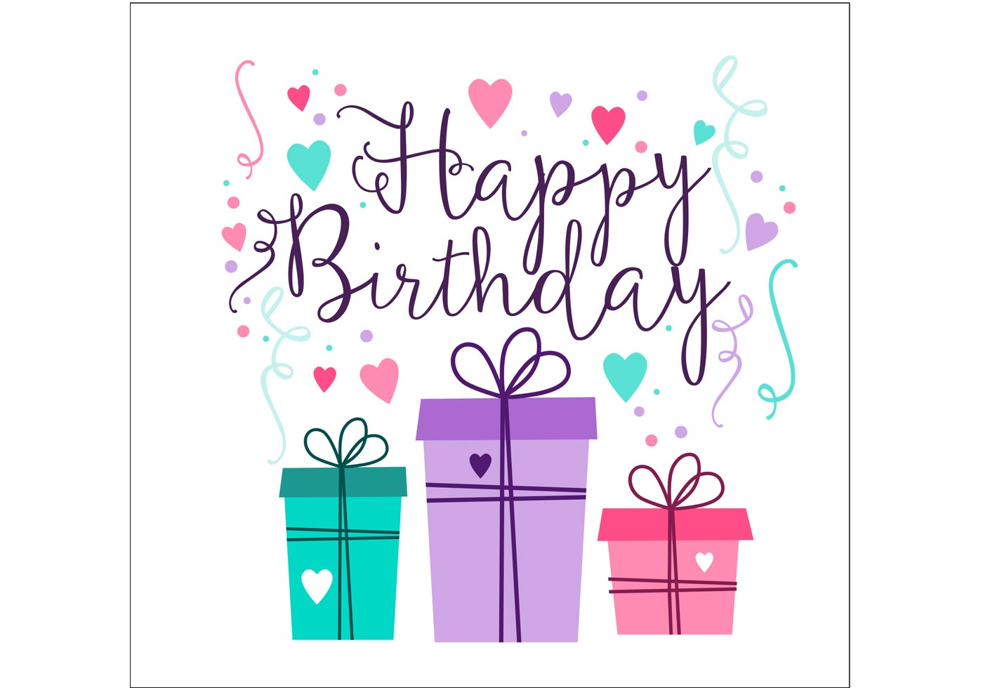 Birthday card design download free vector art stock - Birthday cards images free download ...
