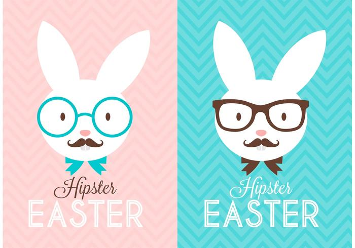 Hipster Easter Rabbit vector