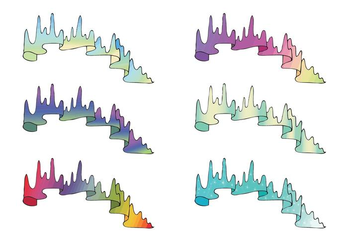 Free Northern Lights Vector Series