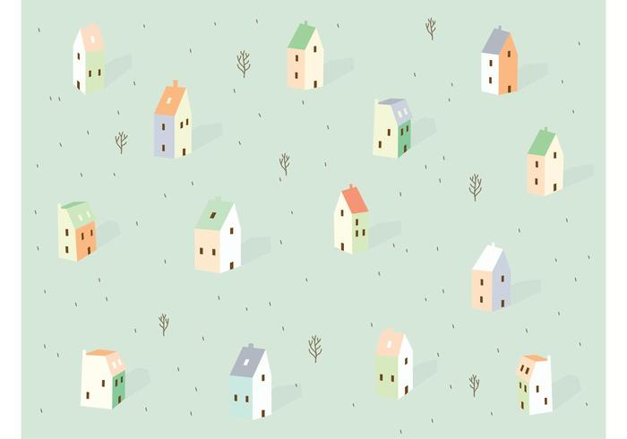 City Background Pattern Vector