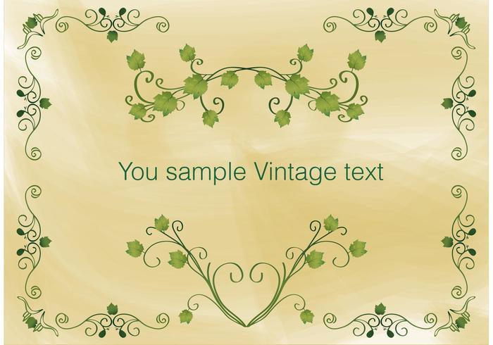 Vintage Ivy Frame Vector