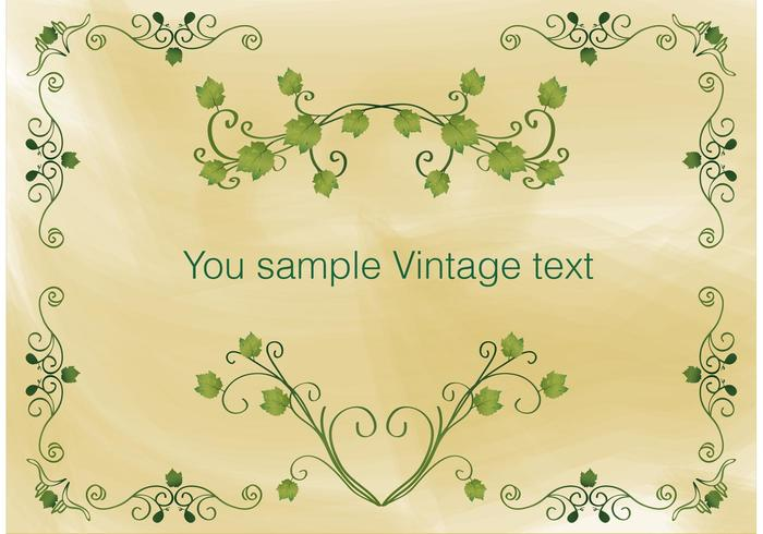 Vintage ivy ram vektor
