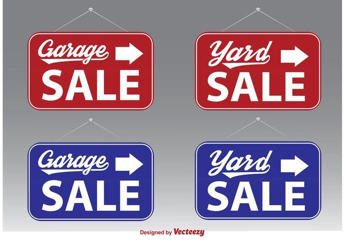 Garage Sale Vector Signs