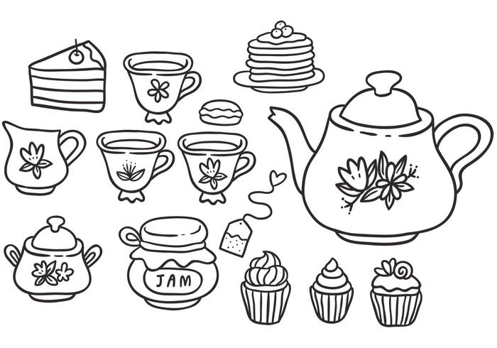 Gratis High Tea Vectors