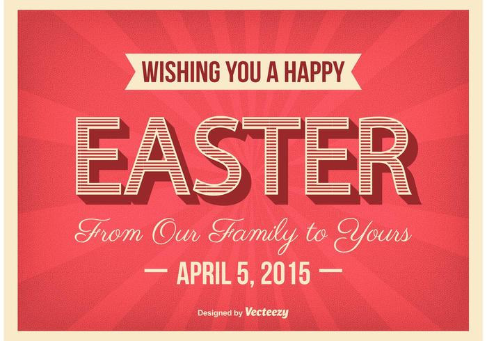 Typographic Easter Poster Vector
