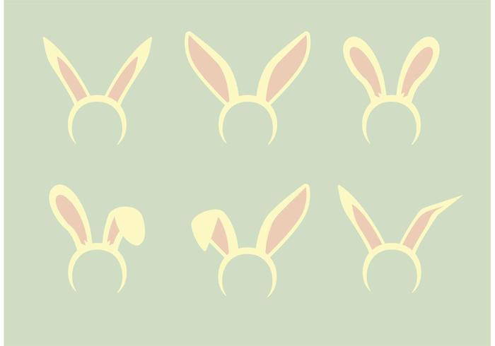 set vettoriale di orecchie da coniglio