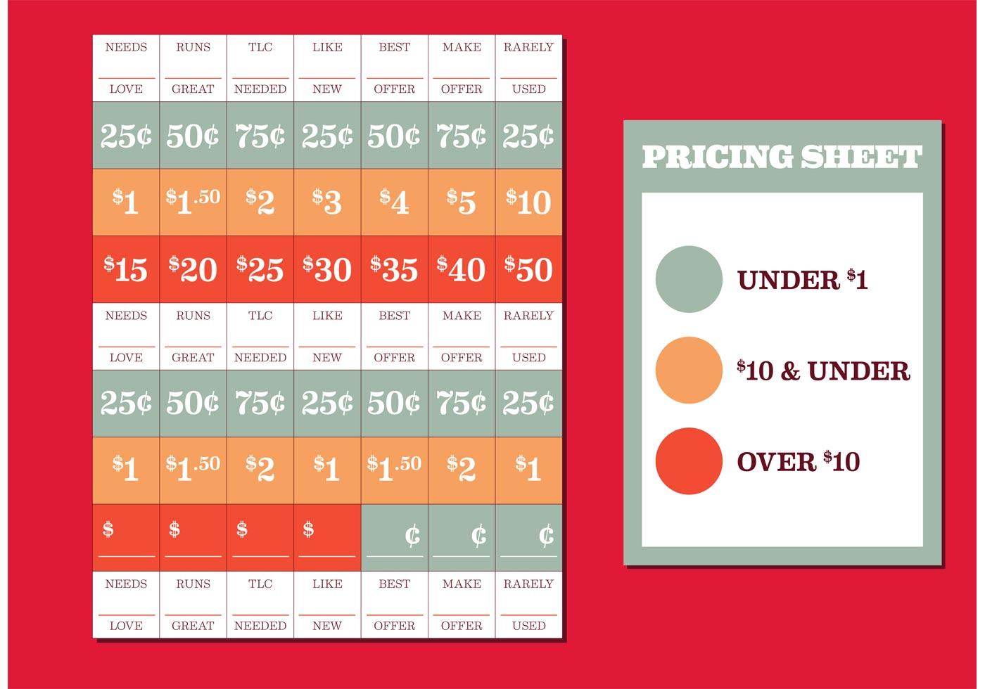 yard sale price tags free vector