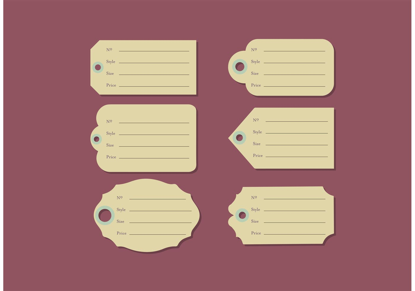 Yard Sale Price Tags Free Vector Download Free Vector