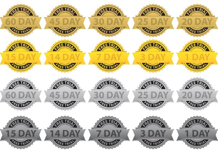 Free Trial Badge Vectors