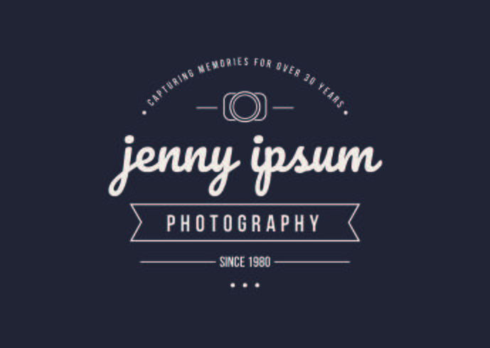 Vintage Style Photographer Logo Template