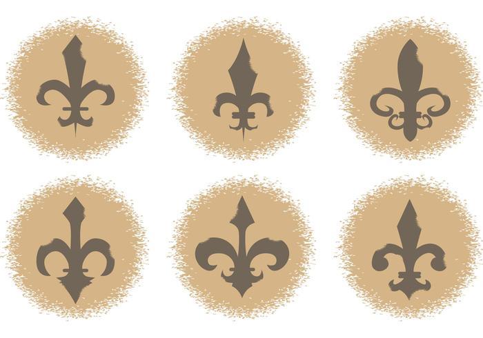 Icônes vectorielles Fleur de Lis