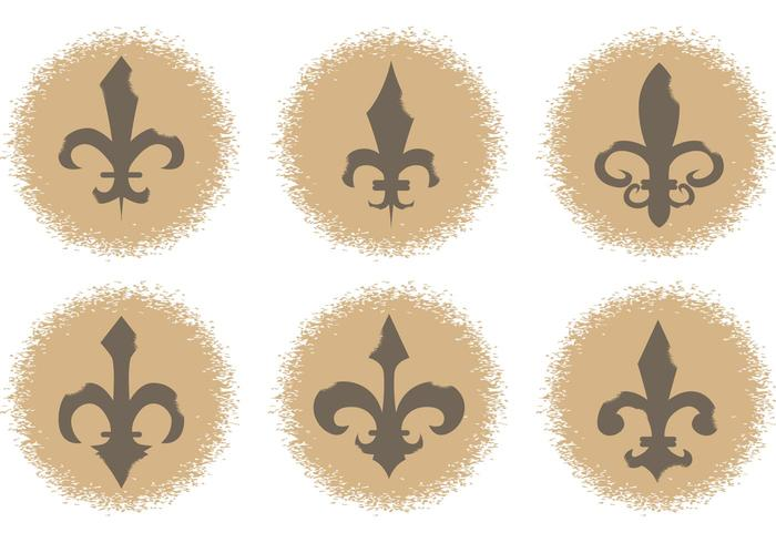 Fleur de Lis Vektor Icons