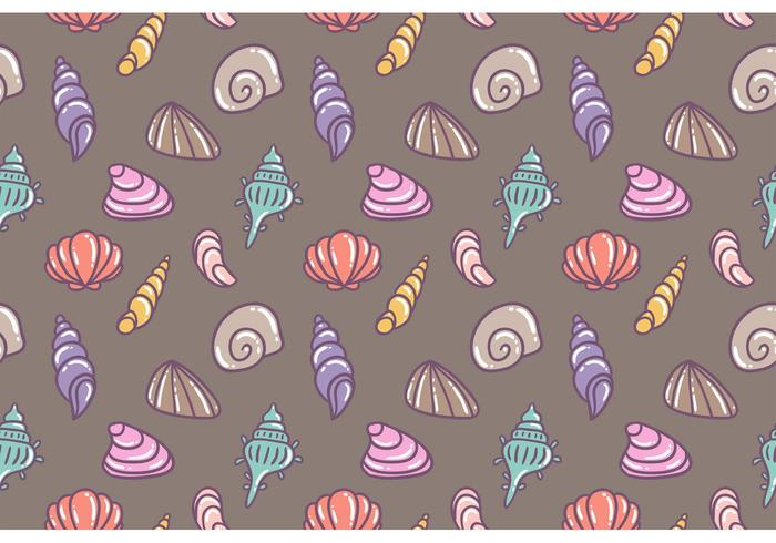 Free Pearl Shell Vector Seamless Pattern
