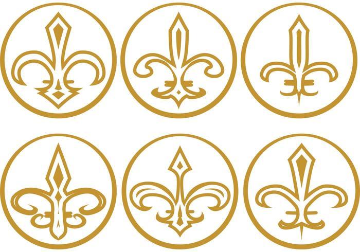 Gold Fleur de Lis Vectors