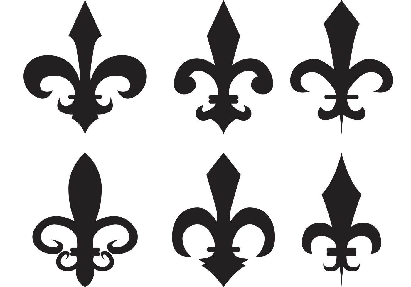 Fleur de lis vector silhouettes download free vector art for Flur design