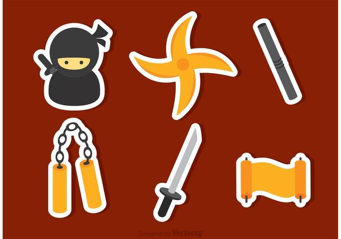 Ninja Pictogrammen Vector