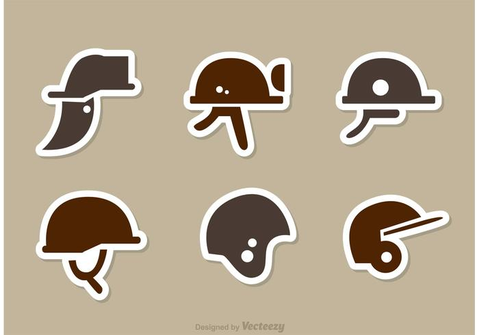 Helmet Side icons Vector