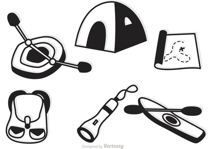 Camping And Recreation Icons Vector
