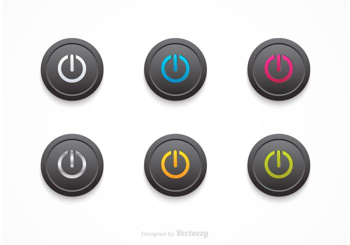 Free Vector Black On Off Buttons