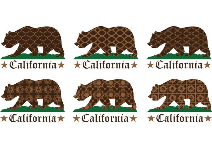 Gemusterte kalifornien tragen vektoren