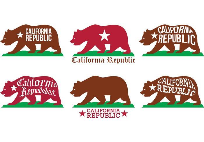 Vectores del oso de California
