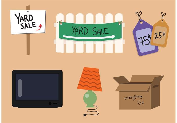 Conjunto de vector de venta de patio
