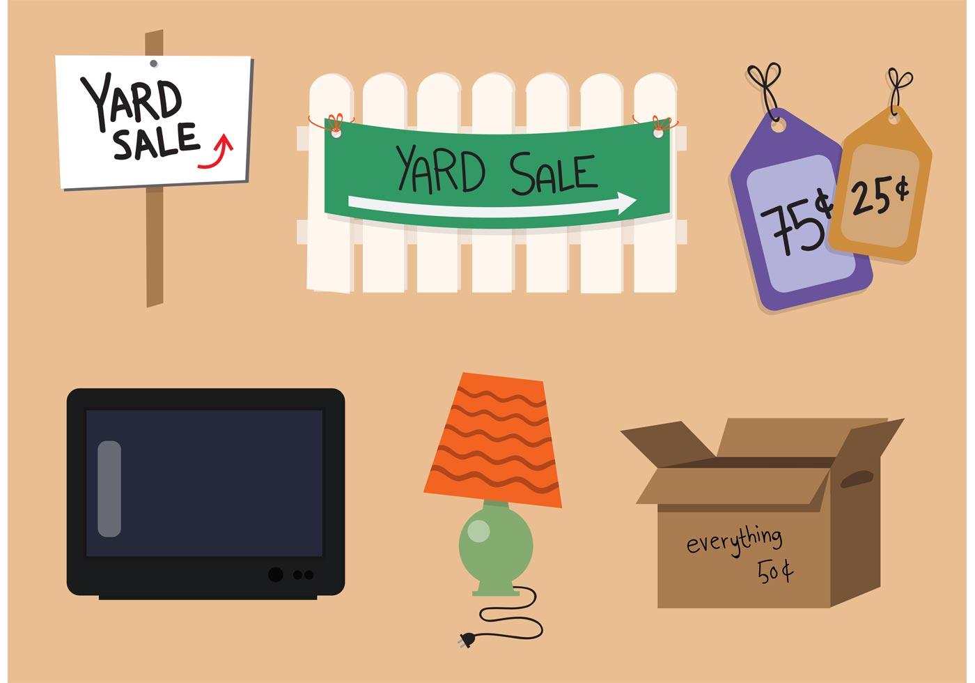 Yard Sale Vector Set Download Free Vector Art Stock