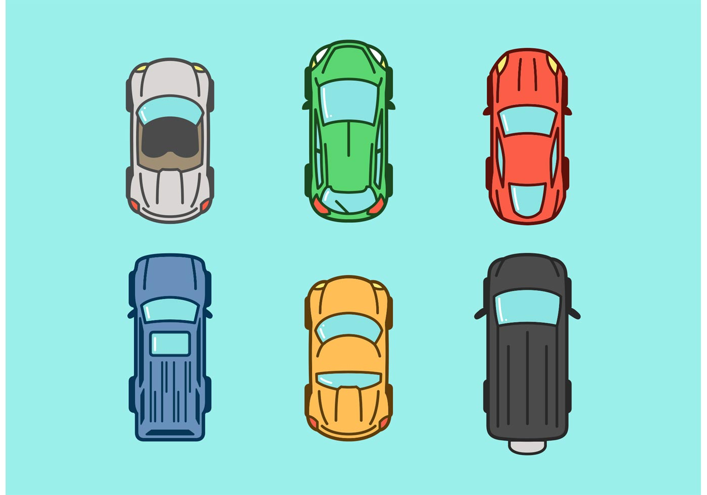 Cars Aerial View Png Aerial View Vector Car