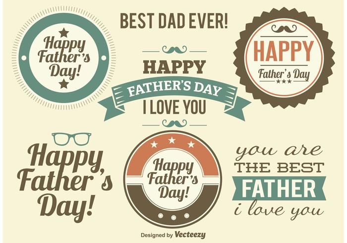 Father's Day Label Vectors