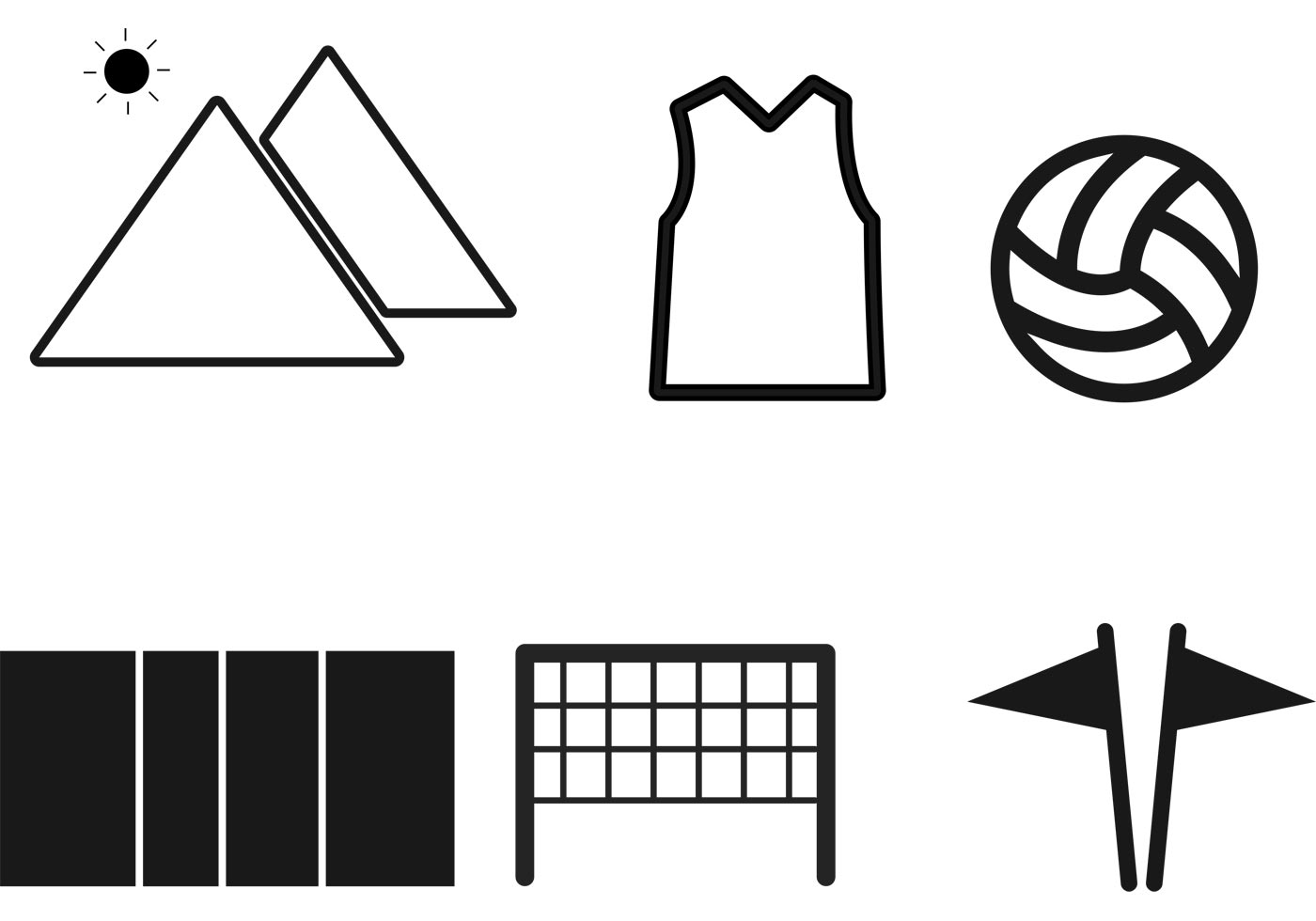 Volleyball Icons Vectors - Download Free Vector Art, Stock ...