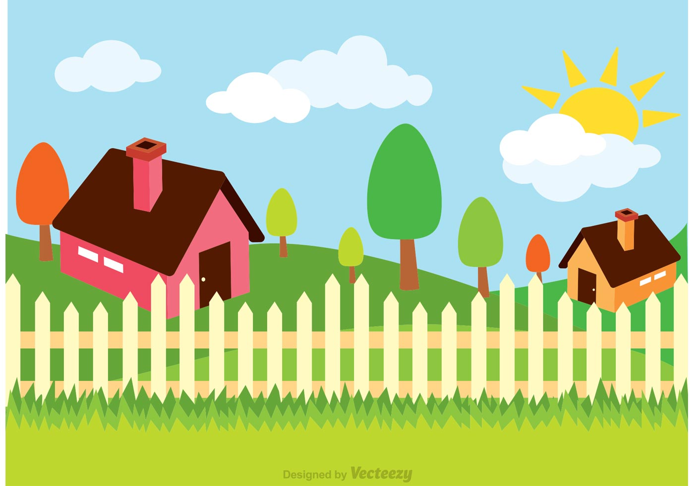 House Illustration Vector Download Free Vector Art