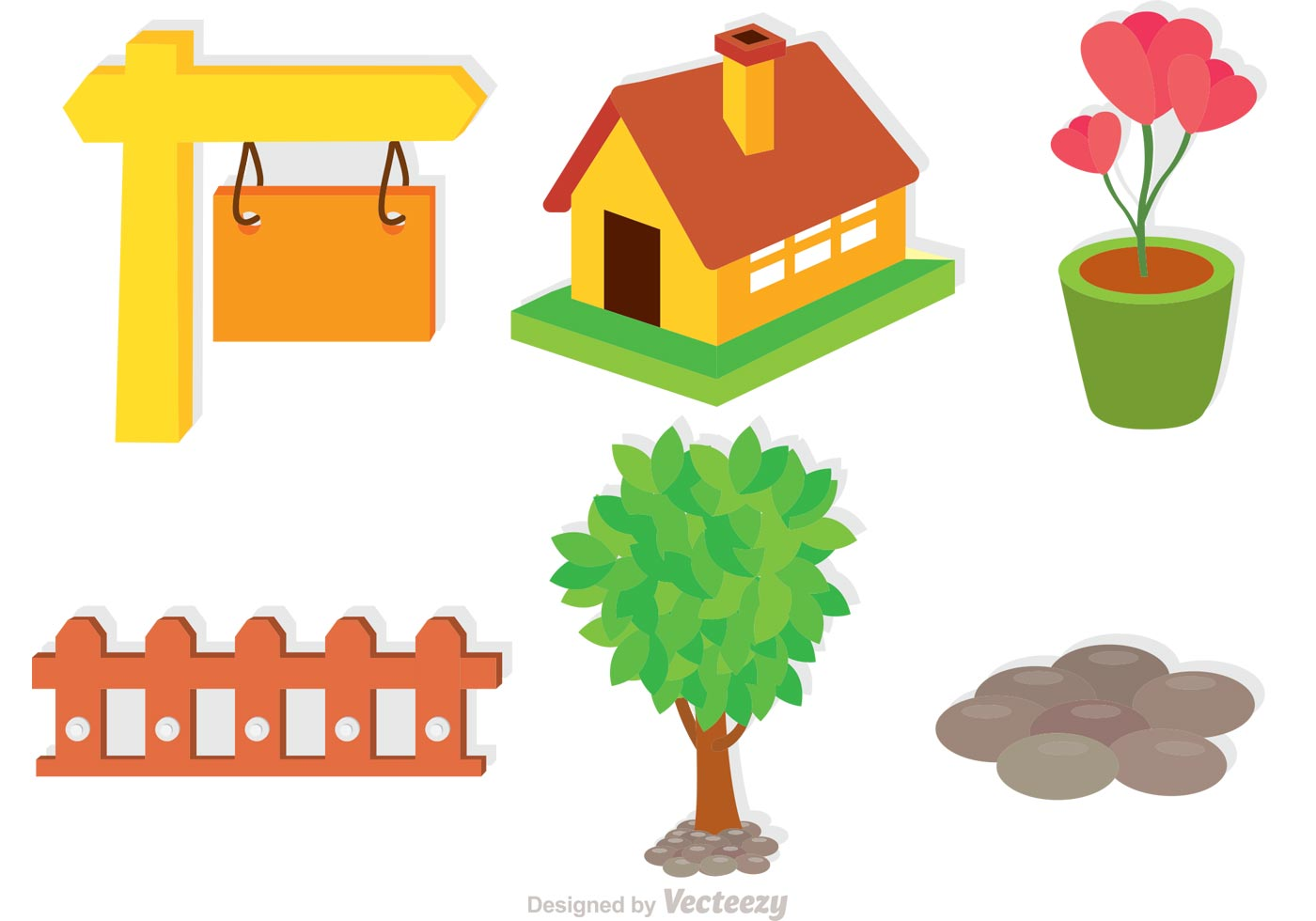 set of garden icons vectors   download free vectors