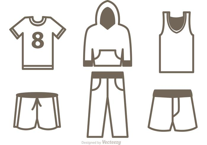Set Of Sport Jersey Icons Vector