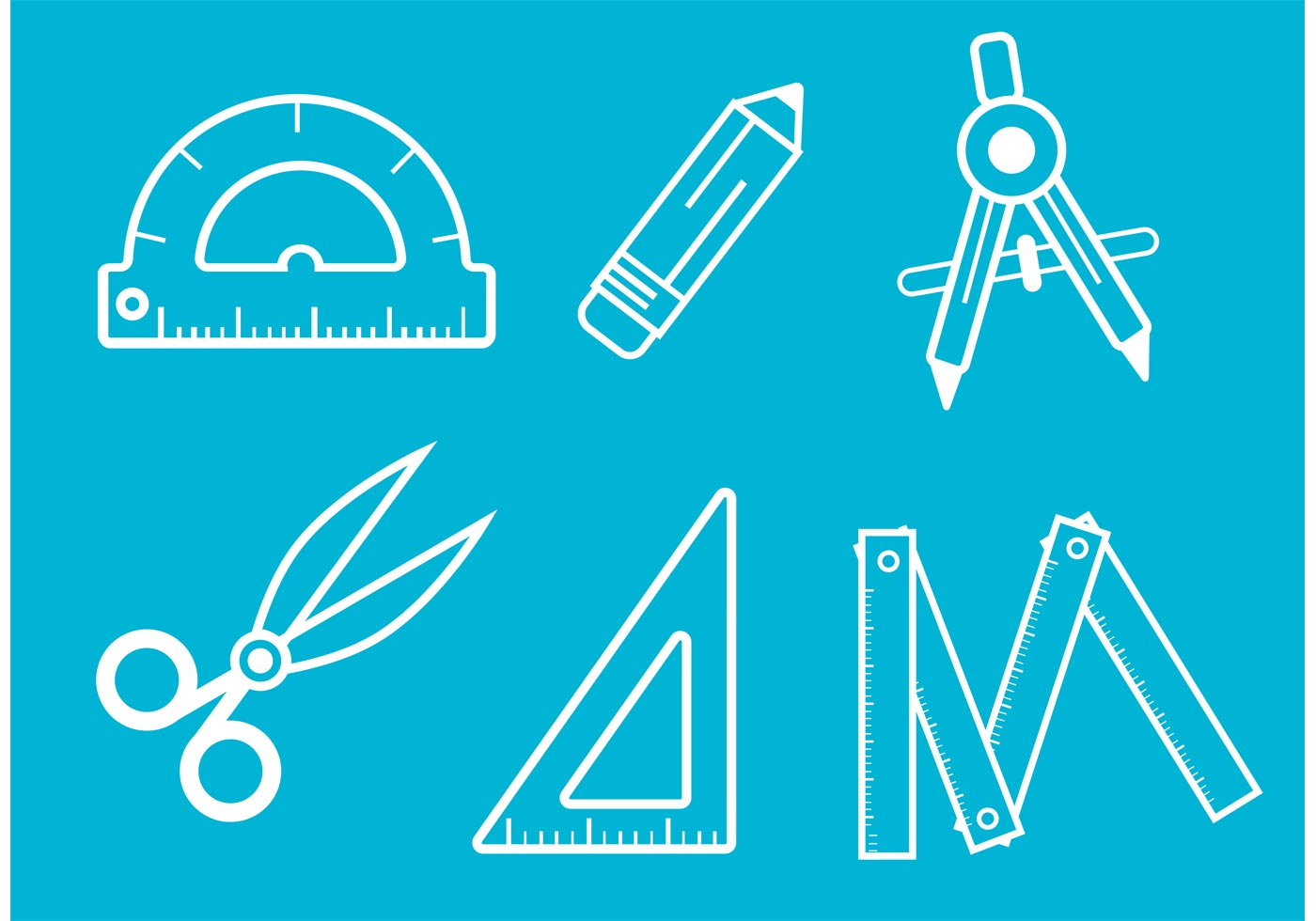 Architecture Tools Vector Outlines