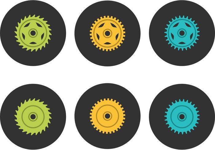 Vector libre de la rueda dentada de la bici