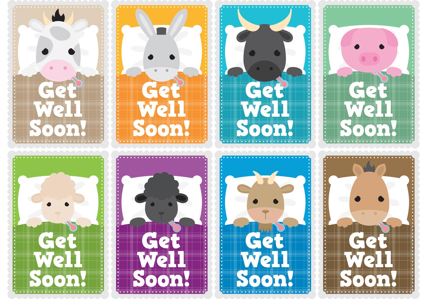 Get Well Soon Children Card Vectors Download Free Vector Art