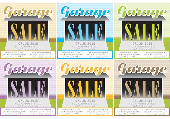 Fundo de vetores de venda de garagem