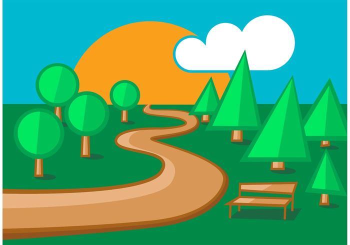 Woodland Park Path Vectors