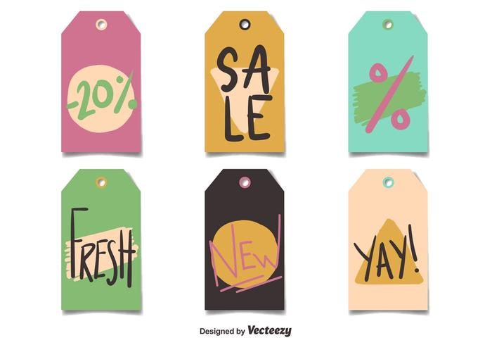 Vector Price Tags Flat Style