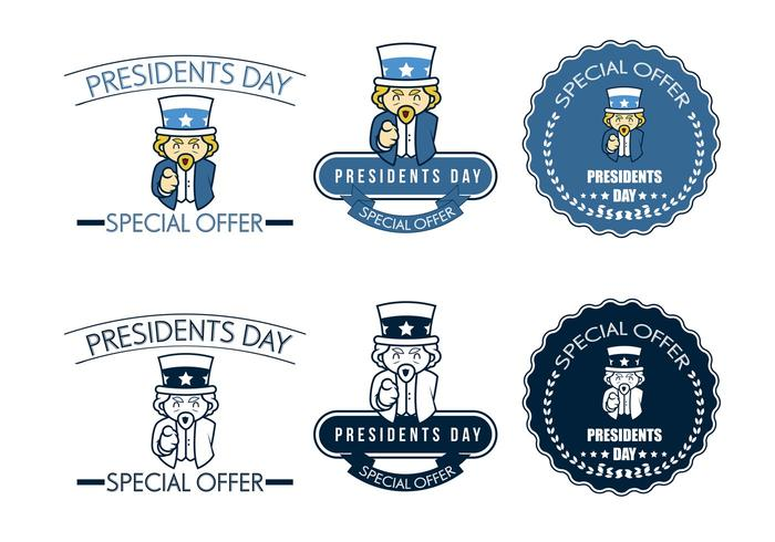 Special Offer for President's Day Vectors