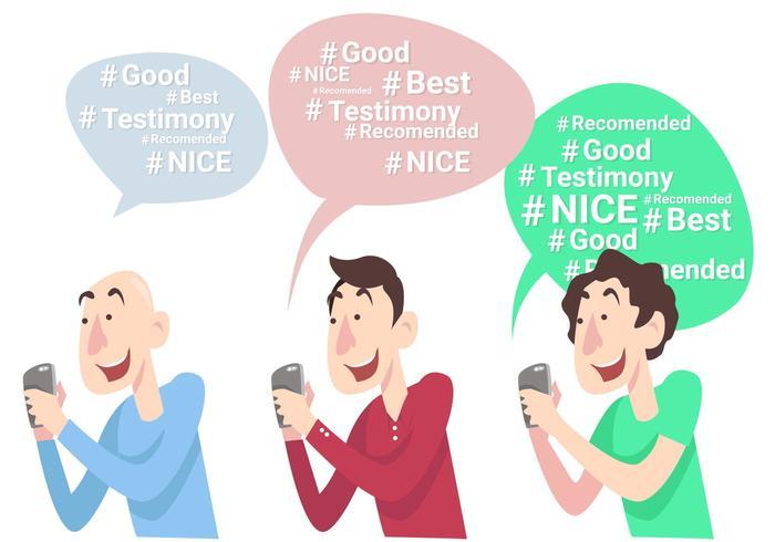 Testimonial Hashtag Vector