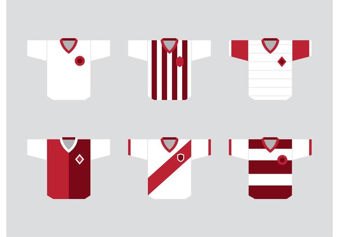 Fußball-Sport-Jersey-Vektoren